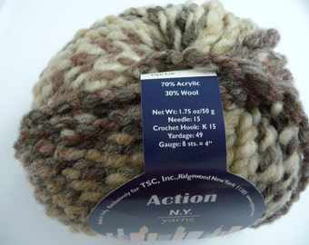 Action NY yarns from Tahki Stacy Charles. color 01