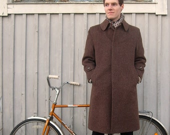 """Men's """"Oratop"""" Pure Austrian Wool Knee-Length Jacket, Made in Finland"""