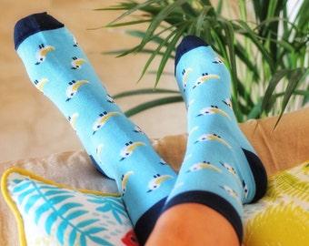 Women's socks, Fantasy Socks, Colourful Socks, Socks for her, Gift for women, Bird Socks, Birds, Cotton Socks