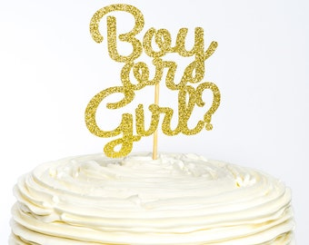 Boy or Girl Cake Topper, Boy or Girl Topper, Baby Shower Cake Topper, Gender Reveal, Cake Topper, Gender Reveal Cake Topper, Baby Shower