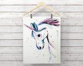 Unicorn Print - Unicorn P...