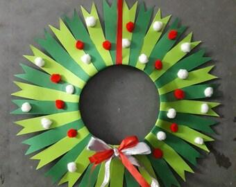 The pompom christmas wreath