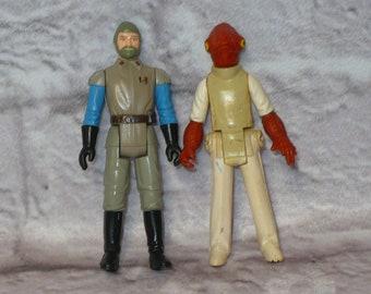 Vintage STAR WARS Figures Lot of 2 1983 1982 General MODINE & Admiral Ackbar The Return of the Jedi