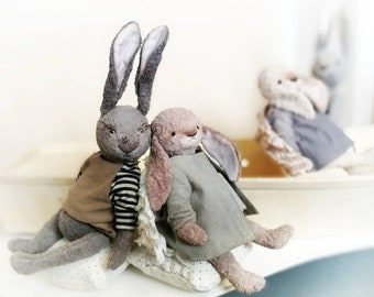 Hare. Rabbit. Collection Hares by Tina Pimenova. OOAK. Collectible sculpture. Toy. Decoration. Gift for everybody.