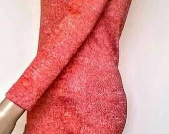 Dress from knit fabric