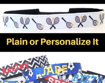 Tennis Headband - Tennis Team Headband - Tennis Gifts - No Slip Headband - Tennis Gifts for Women - Personalized Tennis Gift - Custom Tennis