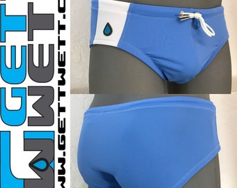 Resort Brief in Periwinkle and White