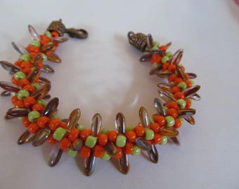 Kumihimo Autumn Blaze Bracelet