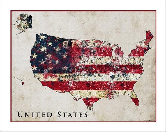 Usa Map With American Flag - Free Usa Maps