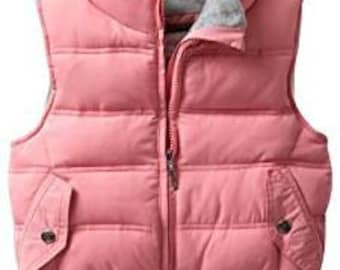 Pink Padded Vest for American Girl Dolls and Most 18 Inch Dolls