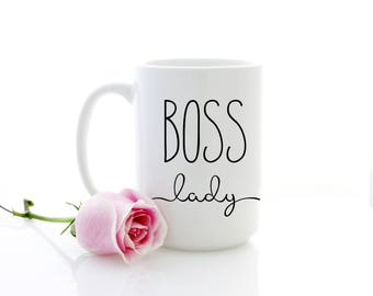 Boss Lady mug. Coffee cup for CEO, Business owner gift for women, lady boss, entrepreneur. Coffee mug for mom.