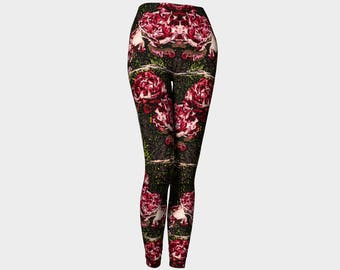 Antique Peonies Fashion Leggings