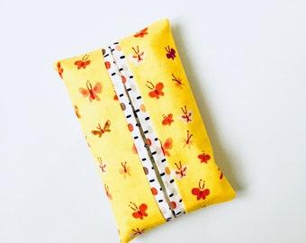 Yellow Butterflies Travel Tissue Holder, Pocket Tissue Cover
