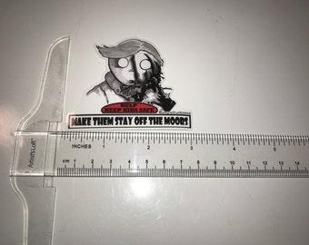 Safety Kid sticker- An American Werewolf in London.