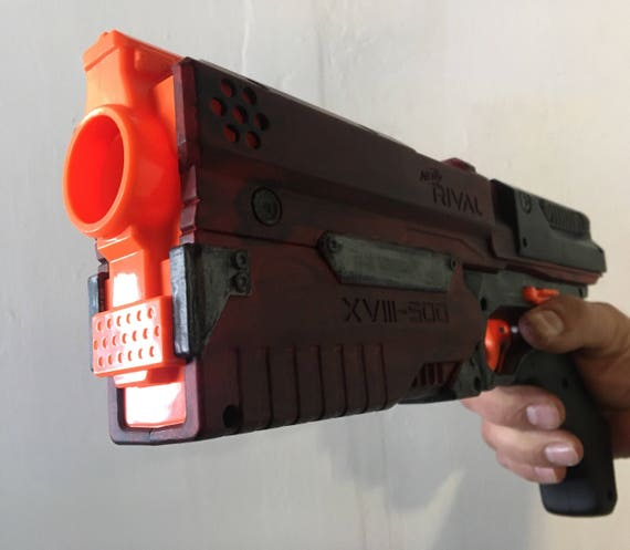 Ultimate Custom Nerf Rival Kronos Pistol w/ 6 Shot and Ammo Door Delete Mods  and optional K26 spring (Made to order)