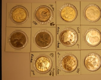 RUSSIA ----11 Coins---1 Ruble Lot-----Value???   See Scan    Great Price
