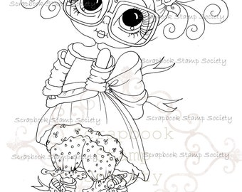 INSTANT DOWNLOAD Digital Digi Stamps Big Eye Big Head Dolls Messy Bessy IMG800 My Besties By Sherri Baldy