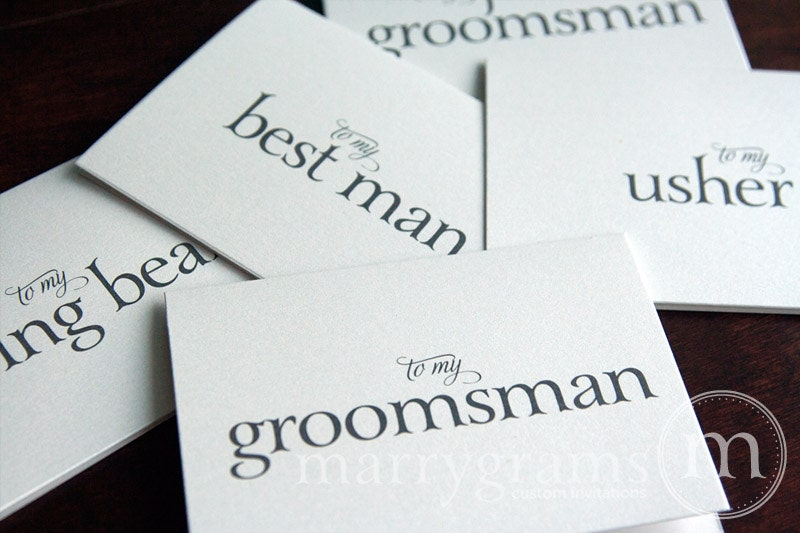 Groomsman Thank You Card Best Man Wedding Note