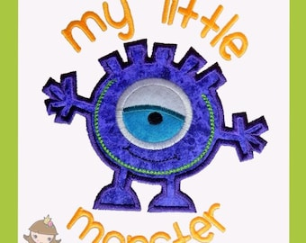 My Little Monster Applique design