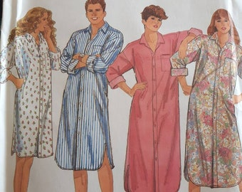 Simplicity 9953, Misses', Men's, and Teen's Nightshirt Sewing Pattern