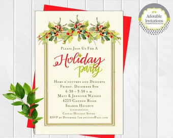 christmas tea invitation