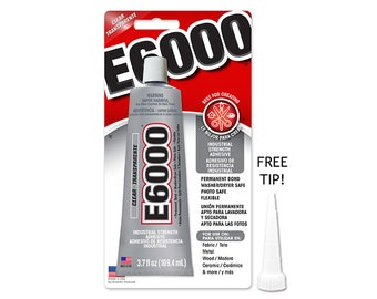 E6000 3.7oz Industrial Strength Glue - Clear w/ FREE TIP!