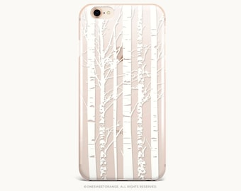 White Paper Birch iPhone 8 Case iPhone X Case iPhone 7 Case GRIP Rubber Case iPhone 7 Plus Clear Case iPhone SE Case Samsung S8 Case U338