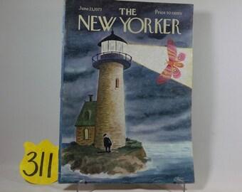 June 1973 New Yorker magazine w/ Charles Addams Cover art