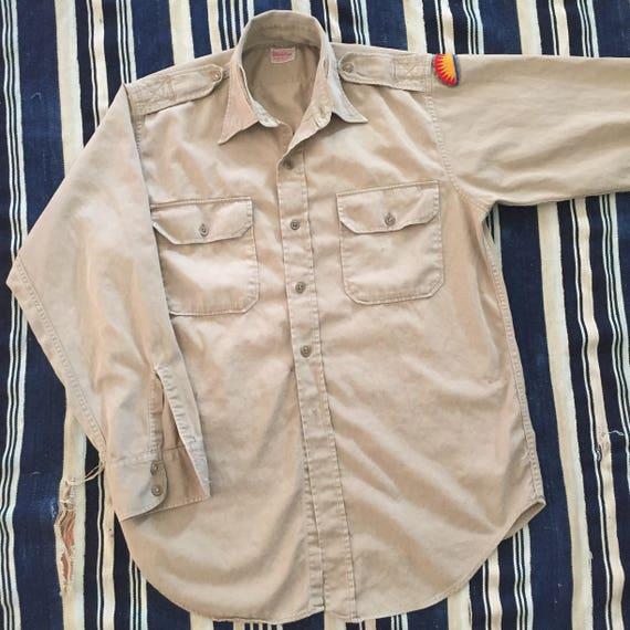 Rare 1950s Levis Big E Wool Loop Collar Shirt Mens Size XS/S Original a3nB78F1v4