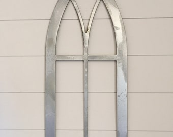 Cathedral Metal Window Frame, farmhouse decor, accent decor