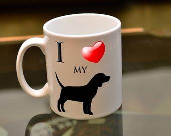 DOG LOVER Gift. I Love My Beagle Sublimation Printed Coffee Mug.