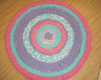 Purple and Pink Rug for a Special Girl!\Crochet Girls Rag Rug