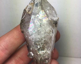 Smokey Herkimer Diamond Crystal Cluster