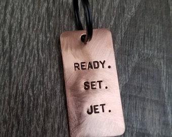 Custom Luggage Tag - Copper Luggage Tag - Travel Accessory - Customized - Copper- Handmade - Engraved - Bag Tag - Travel Gift - Personalize