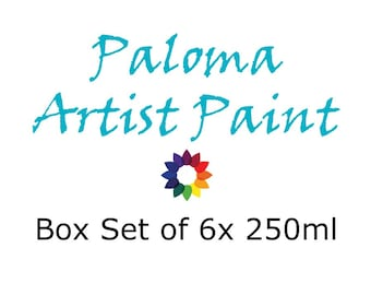 Paloma Artist Paint Box Set of 6x 250ml