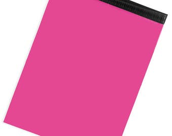"""Hot Pink X-Large Poly Mailers 19x24"""" - Pack of 50 - FREE SHIPPING"""