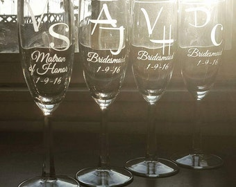 Champagne Flutes for Bachlorette Party!