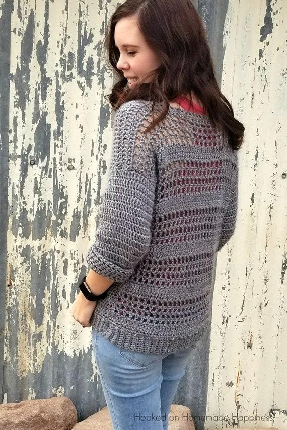 Crochet Sweater PATTERN Easy Crochet Pattern Crochet Top