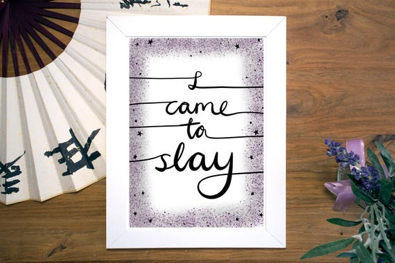 Beyonc lyric print beyonc art print middle fingers up beyonc lyric print beyonc art print middle fingers up i came to slay beyonc home decor queen bey feminist art stopboris Image collections