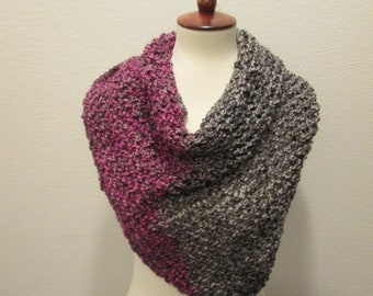 Ladies Triangle Shawl  - Gemstone Hues