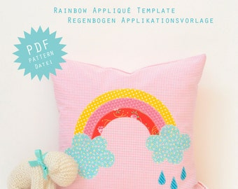 PDF Applique Template - Rainbow
