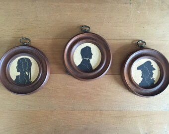 Set of 3 Silhouette Framed Pictures