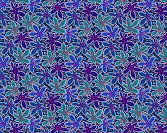 2 yards Lacy Leaf in blue from the Kaffe Fassett collection