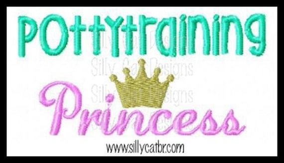 Pottytraining Princess Applique Design