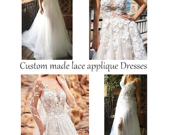 Custom Made for You Lace Tulle chiffon Wedding Dresses