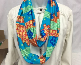 Multicolor infinty coat scarf many bright colors