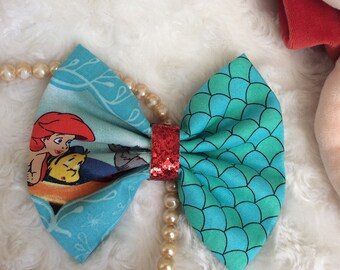 Ariel bow, Ariel headband, the little mermaid bow