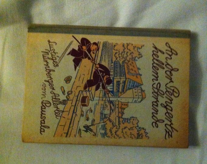 Antique 1930 Nuremberg Book funny