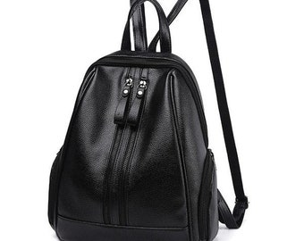 Bag has Leather strap Zipper