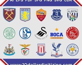 Football Logo Vector download,Soccer team logos vector,soccer team logo vector Art,futbol team vector logos,europe football team logo vector
